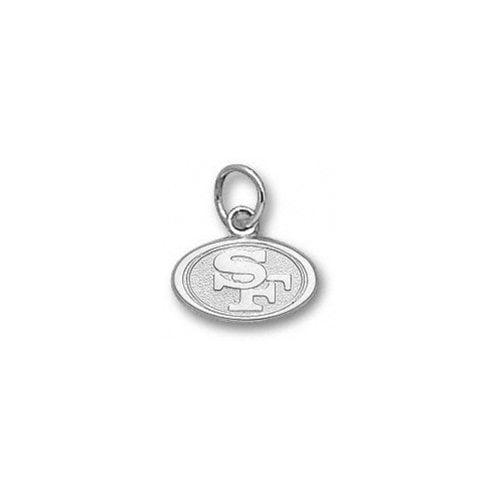 NFL - San Francisco 49ers 1/4'' Sterling Silver ''SF'' Logo Pendant