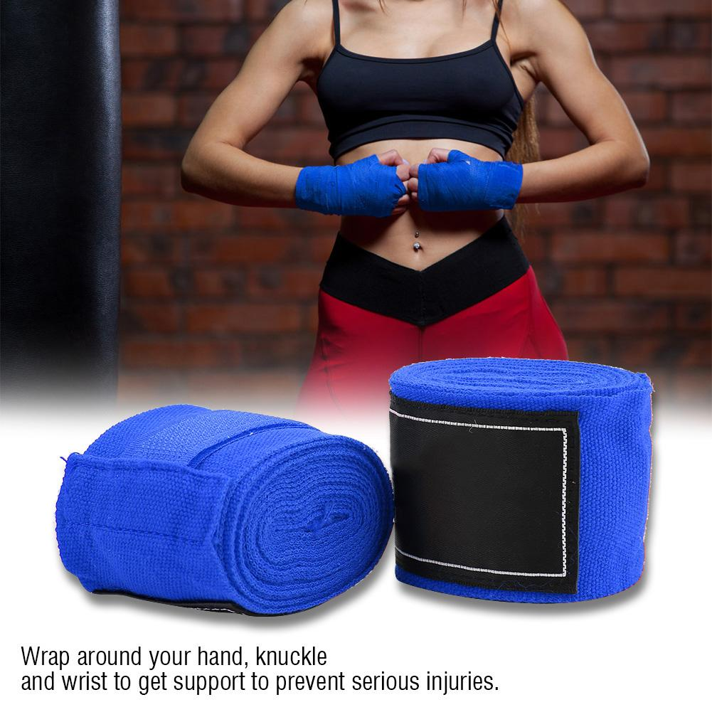 LITE BLUE HAND WRAPS WRIST SUPPORTS FOR MMA MARTIAL ARTS THAIBOXING 2.5m