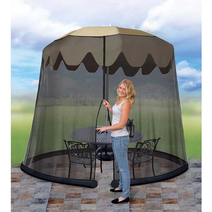 Jobar Ideaworks Outdoor 9 Foot Umbrella Table Screen Black by Jobar