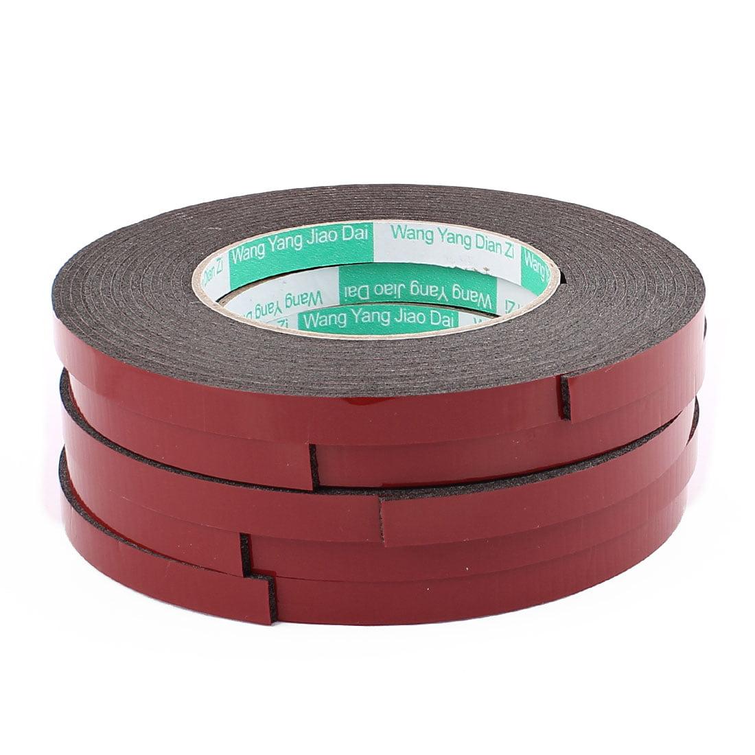 5PCS 1CM Width 5M Long 2MM Thick Dual Sided Sealing Shockproof Sponge Tape Black