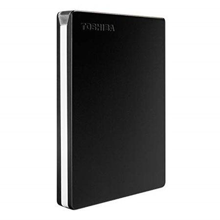 Toshiba HDTD320XK3EA 2TB Canvio Slim Portable External Hard Drive, Black, USB 3.0 Canvio Desk Desktop Usb