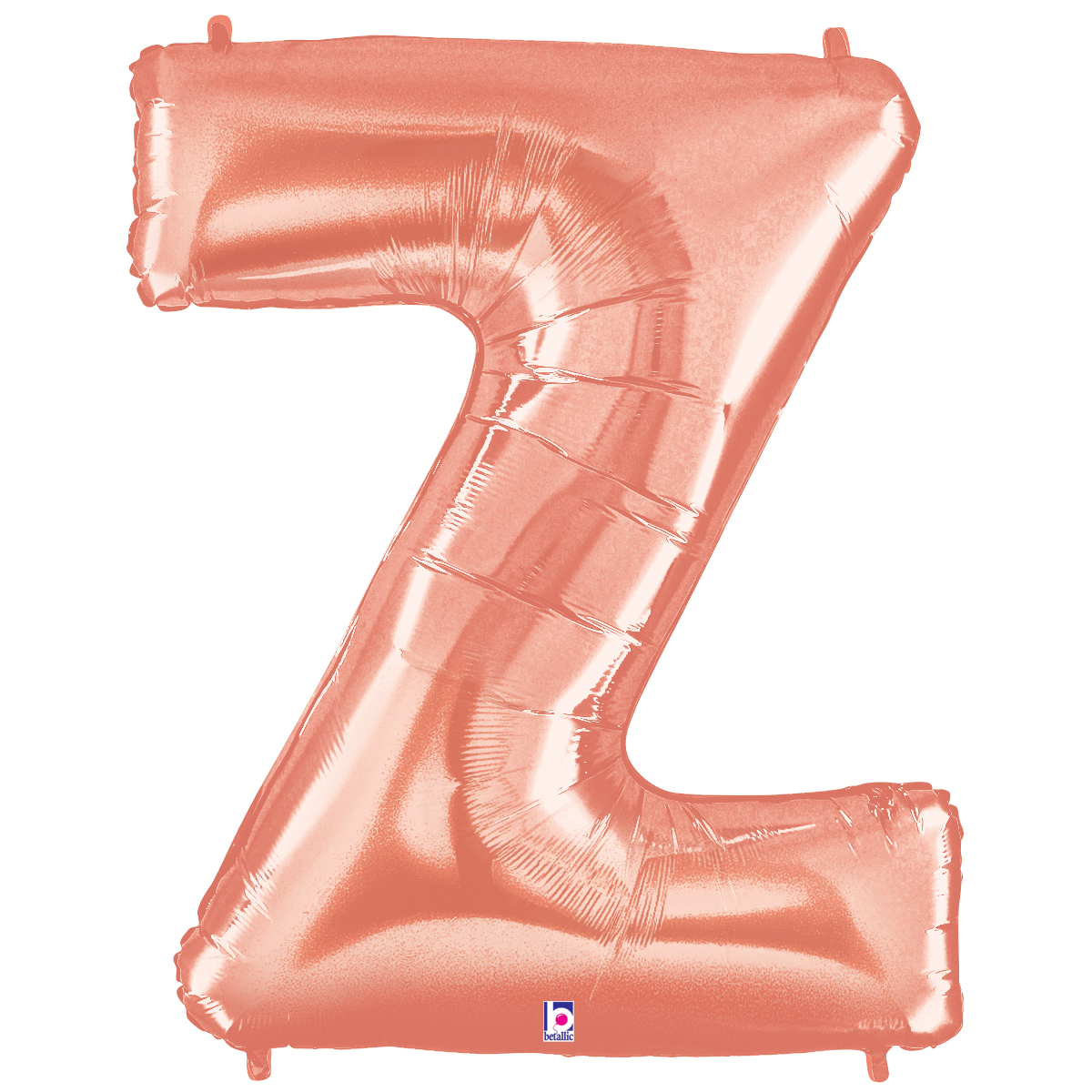 Rose Gold Letter/Number Foil Mylar Balloon, 40 Inch