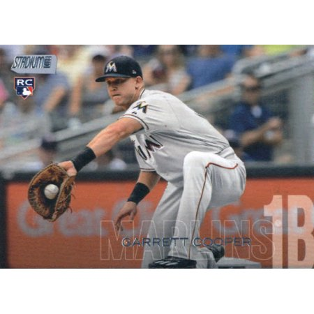 2018 Topps Stadium Club #139 Garrett Cooper Miami Marlins Rookie Baseball Card - *GOTBASEBALLCARDS Topps Stadium Club Rookie Card