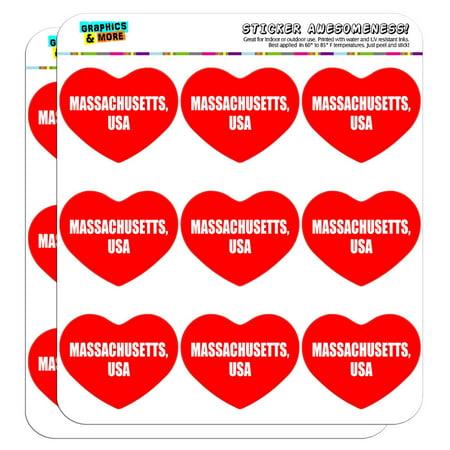 I Love Heart - State in USA - Massachusetts USA - 2