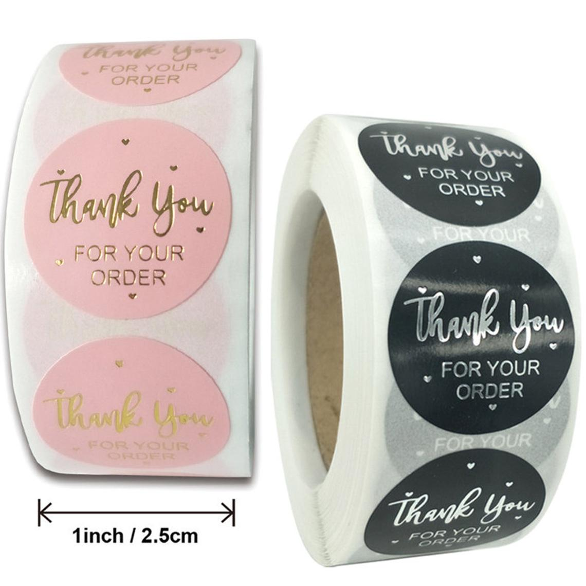 1Thank You Stickers 16 Designs 1000pc Thank You Labels Stickers for Business Packaging,Gift Bags,Boxes,Tissue Ideal for Crafters /& Online Sales