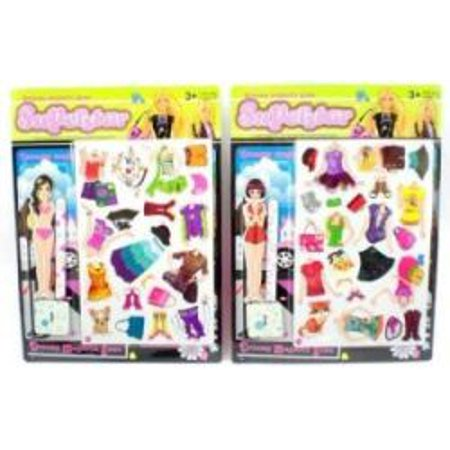 Street Smart Girl Magnetic Dress Up Paper Doll One Random (Doll Paper)