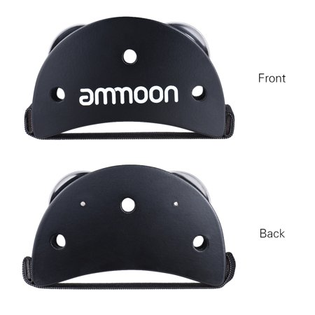 ammoon Elliptical Cajon Box Drum Companion Accessory Foot Jingle Tambourine for Hand Percussion Instruments Black