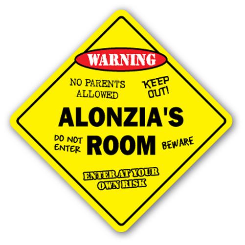 ALONZIA'S ROOM SIGN kids bedroom decor door children's name boy girl gift by SignMission
