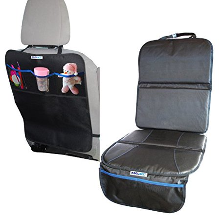 Child Car Seat Protector & Full-Size Kick Mat Set - Protection For ...