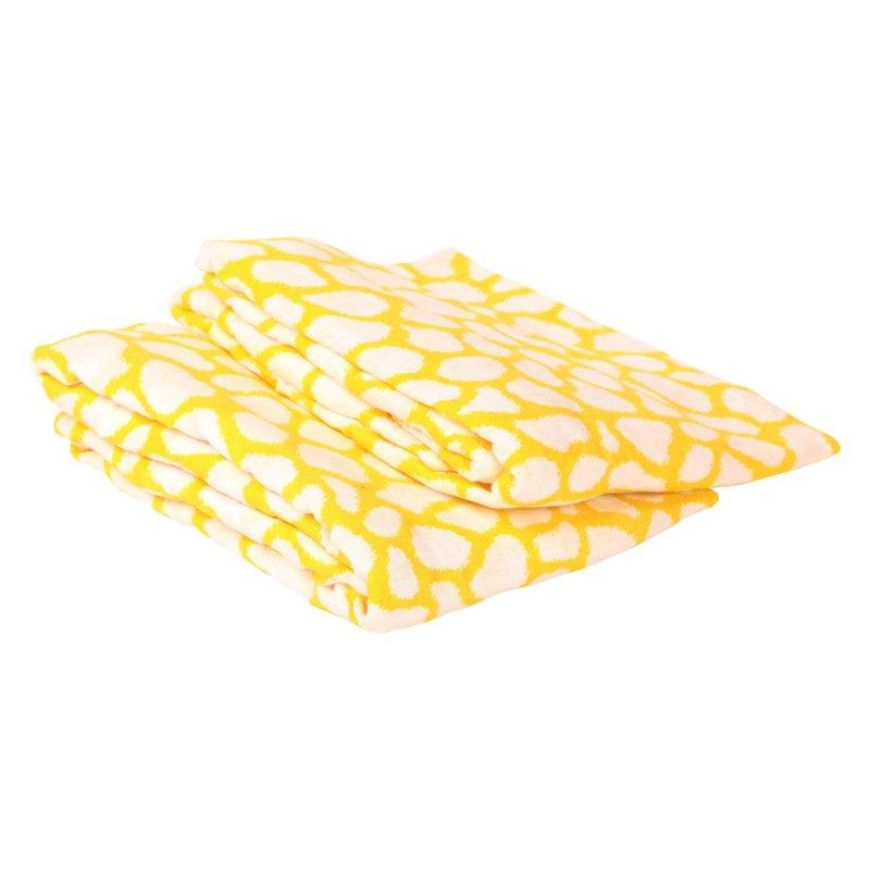 Bacati Ikat Giraffe 2 Piece Muslin Crib Sheet Set