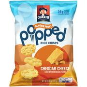 Quaker Gluten Free Popped Rice Crisps Cheddar Cheese, 6.06 OZ