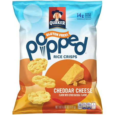 Quaker Gluten Free Popped Rice Crisps Cheddar Cheese  6 06 Oz
