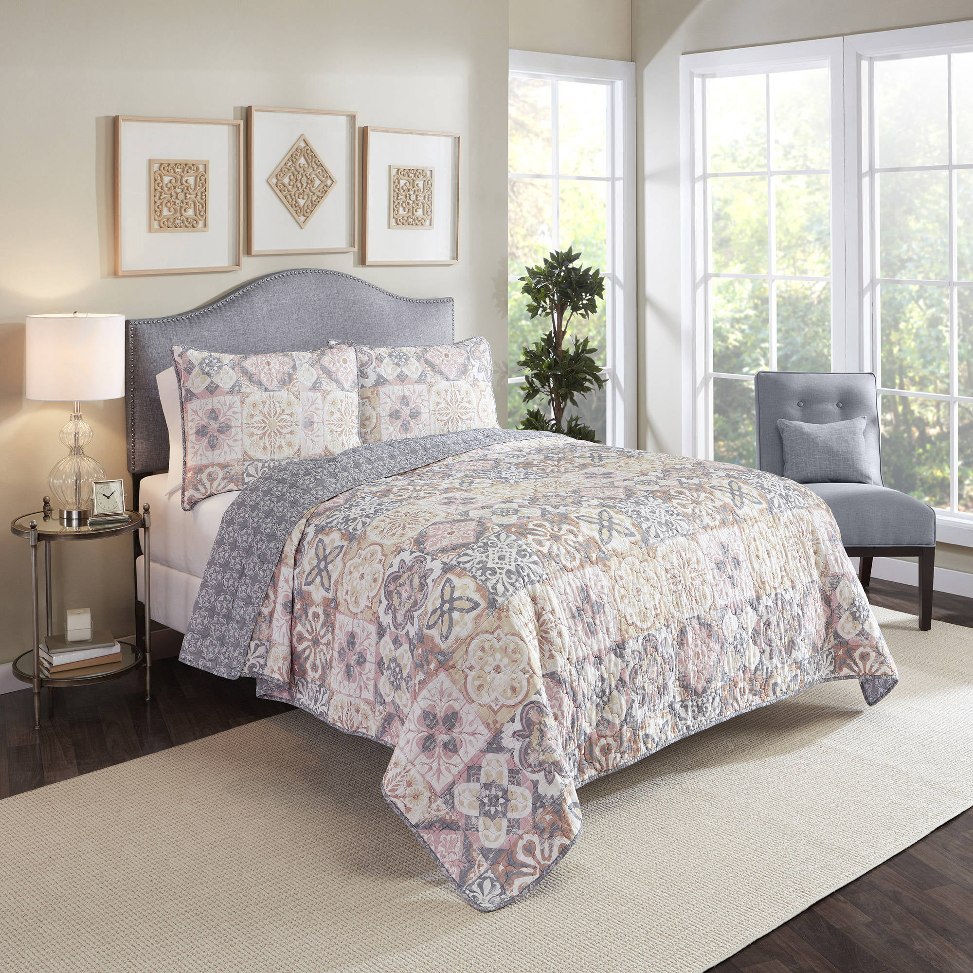 Marble Hill Torrey Reversible 3-Piece Quilt Set by Ellery Homestyles