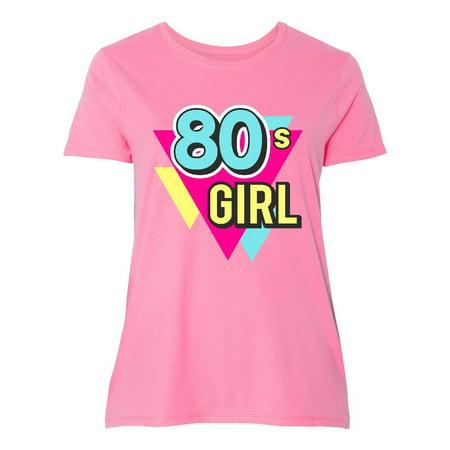 Plus Size 80s Fashion (Vibrant Colors 80s Girl Women's Plus Size)