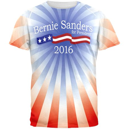 Bernie Sanders 2020 President All Over Adult T-Shirt - Small