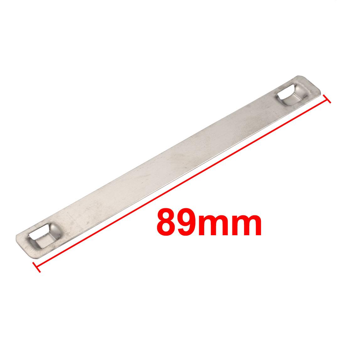 30pcs 10mm Width 89mm Length 316 Stainless Steel Marker Plate Silver Tone - image 2 de 3