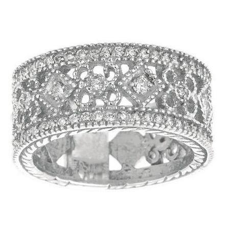 Harry Chad Enterprises 7795 0.66 CT Sparking Round Brilliant Diamond Eternity Band Ring - White Gold - image 1 of 1