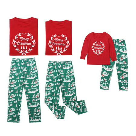 Merry Christmas - Santa Claus & Reindeer Family Matching Pajama Sets Sleepwear for Dad](Xmas Pajamas For The Family)