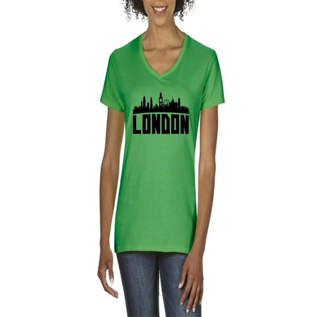 London UK Women's V-Neck T-Shirt Tee Clothes (American Clothing Websites That Ship To Uk)