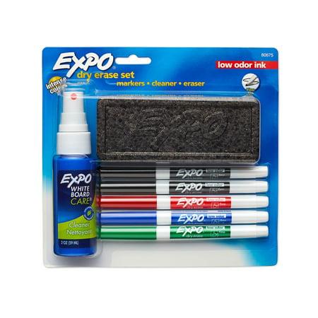 EXPO Dry Erase Marker Starter Set, Fine Tip, Assorted Colors, 7-Piece Kit