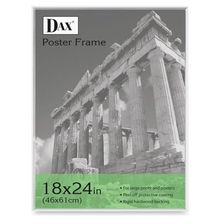 DAX U-Channel Poster Frame, Contemporary Clear Plastic Window, 18 x ...