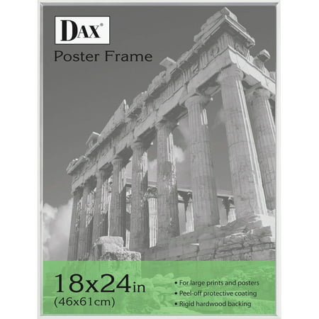 DAX U-Channel Poster Frame, Contemporary Clear Plastic Window, 18 x 24, Clear Border ()