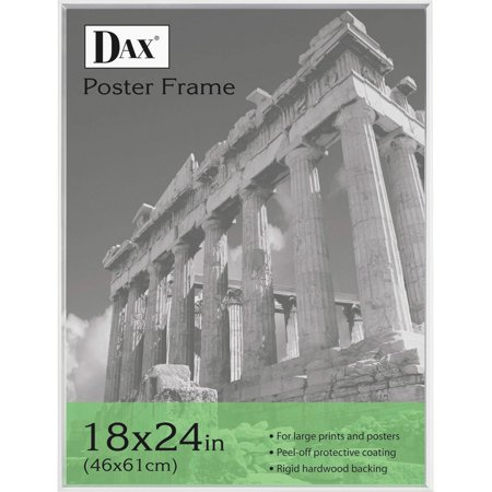DAX U-Channel Poster Frame, Contemporary Clear Plastic Window, 18 x 24, Clear Border (Frame Window)