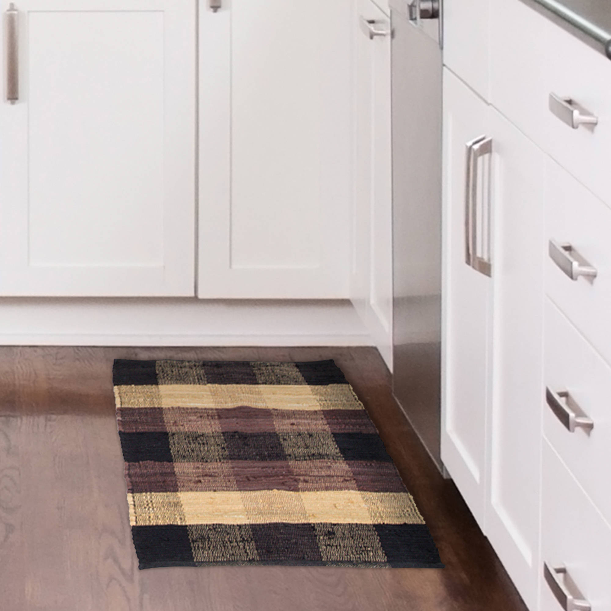 Somerset Home Chindi Plaid Accent Area Rug or Runner