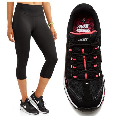Womens Avia Active Legging and Sneaker Set (Type Of Shoes To Wear With Leggings)