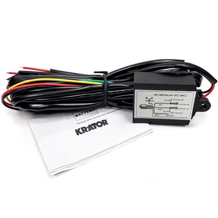 Krator LED Universal Daytime Running Light Automatic ON/OFF Controller Module Box Relay