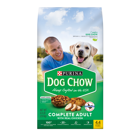 Purina Dog Chow Dry Dog Food; Complete Adult With Real Chicken - 4.4 lb. Bag (Food Dog Costumes)