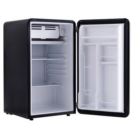 3.2 Cu Ft Retro Compact Refrigerator w/ Freezer Interior Shelves Handle - image 4 of 10