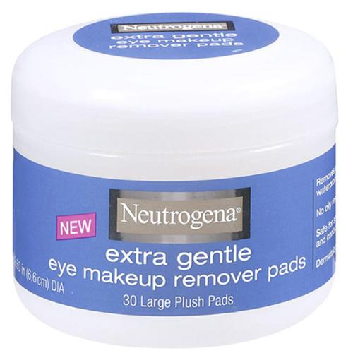 Neutrogena Extra Gentle Eye Makeup Remover Pads 30 ea (Pack of 6)