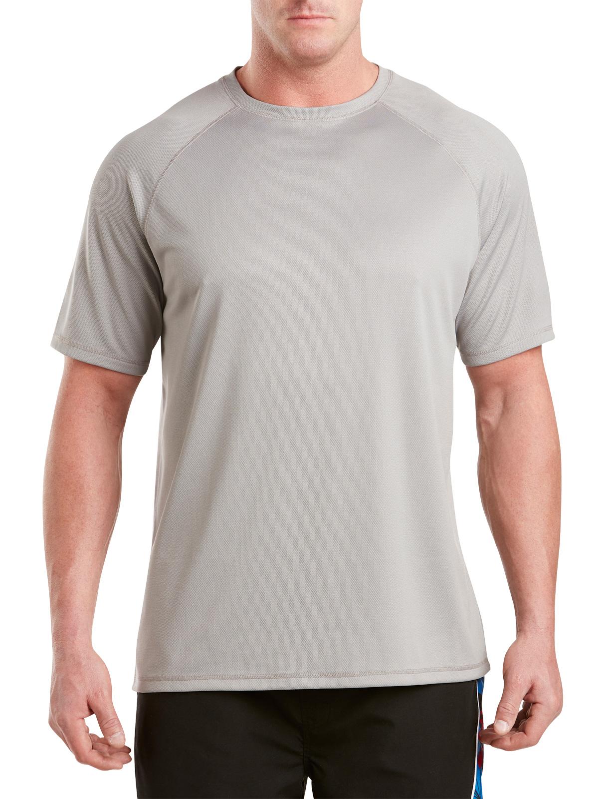 Men's Big & Tall Harbor Bay Swim Rash Guard T-Shirt