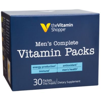 Sunshine Shoppe Supply (The Vitamin Shoppe Men's Complete Vitamin Packs, 30 Day Supply, Antioxidant Supplements that Supports Energy Production, Immune  Men's Health, Contains Vitamins, Minerals, Herbs  More (30)