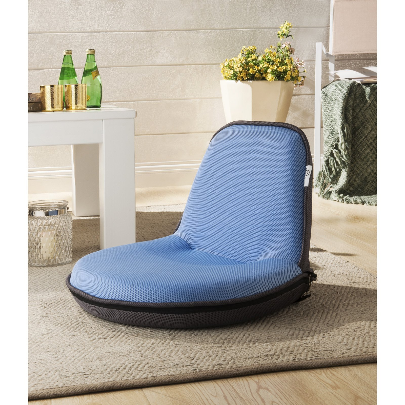 Loungie Quickchair Indoor/Outdoor Portable Mesh Camping Floor Chair