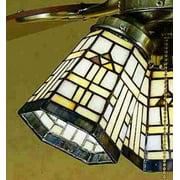 Meyda Tiffany 27461 Tiffany Glass Stained Glass / Tiffany Fan Light Kit Glassware