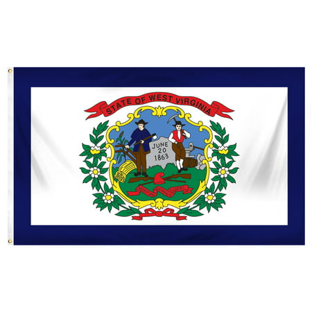 - West Virginia 3ft x 5ft Printed Polyester Flag