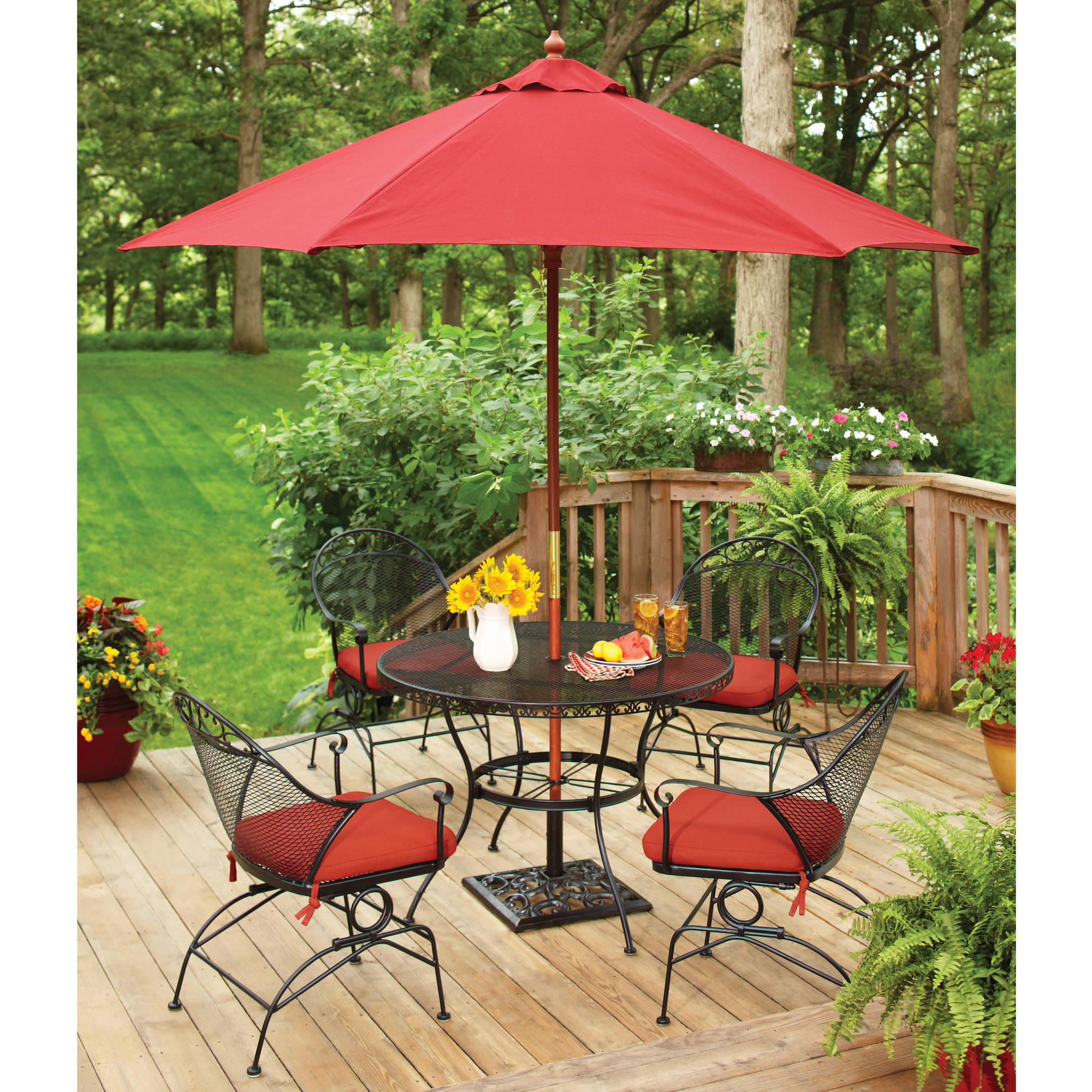 Better Homes And Gardens Clayton Ct 5 Piece Dining Set, Red, Box 2 Of 2    Walmart.com