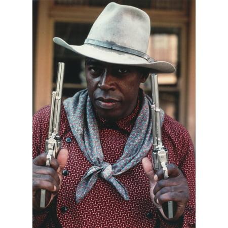 Ernie Hudson in A Cowboy Outfit with Gun Photo Print
