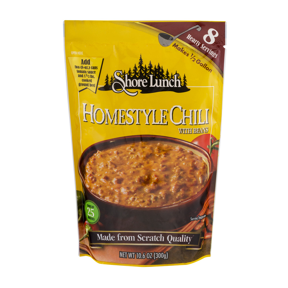 Shore Lunch Homestyle Chilli With Beans, 10.6 OZ