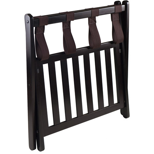 Winsome Reese Wooden Luggage Rack With Shelf, Espresso   Walmart.com