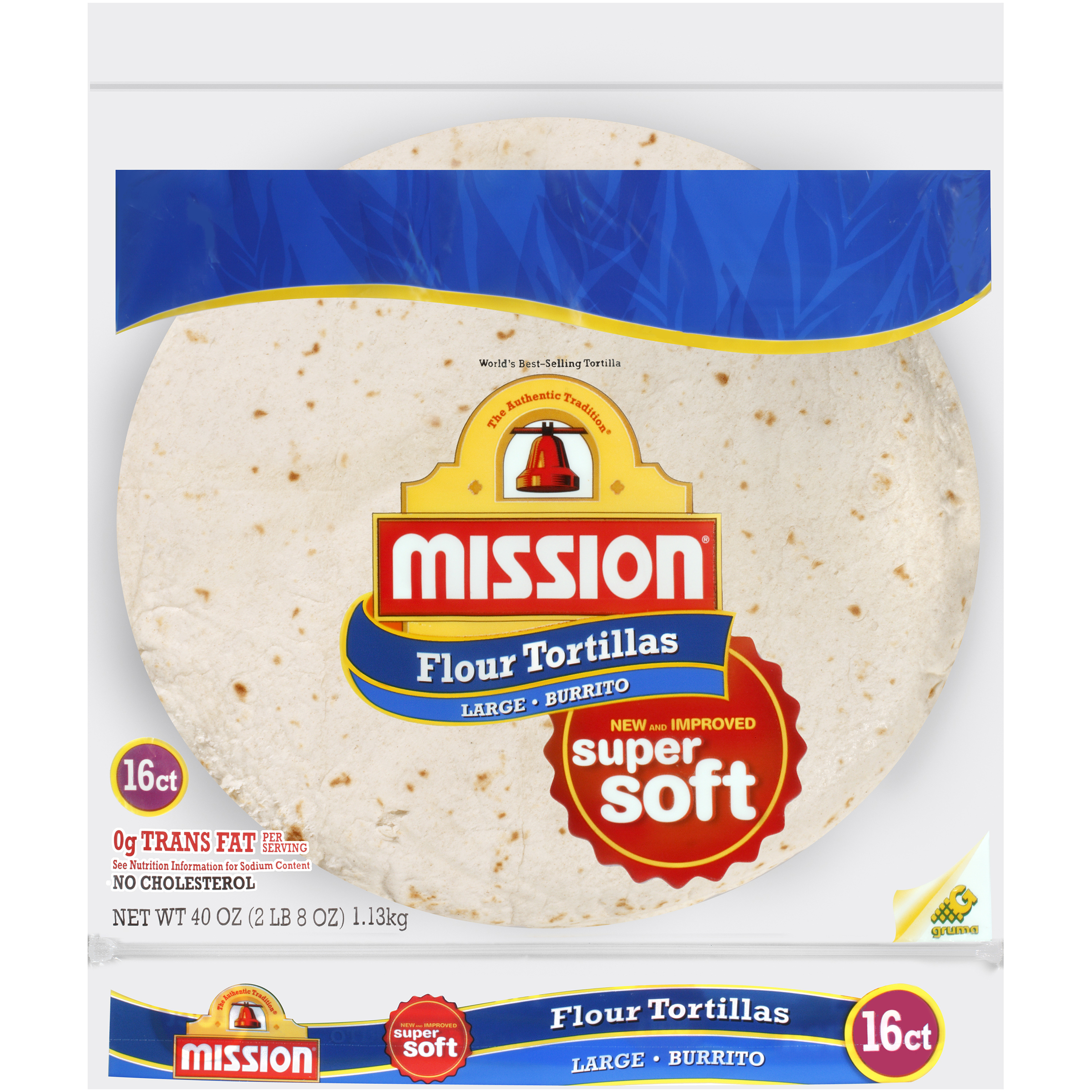 Mission�� Flour Large Burrito Tortillas 40 oz. Bag