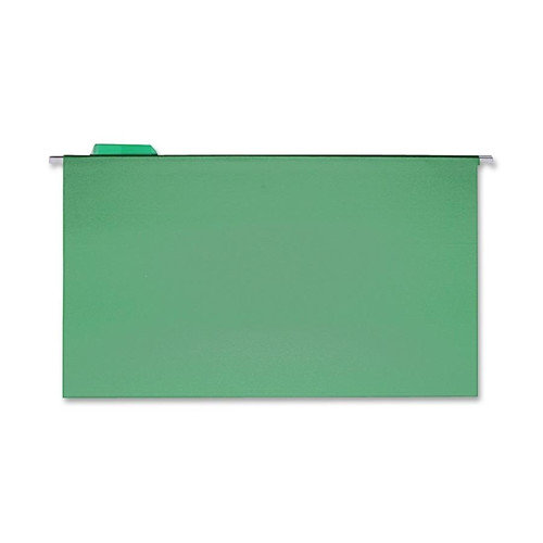 Sparco Products Hanging Folder, 1/5 Tab Cut, Legal, 25 per Box, Green/Blue/Red/Yellow