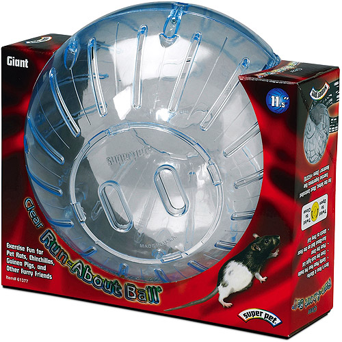 "Super Pet Run-About Ball 11.5"" Clear"