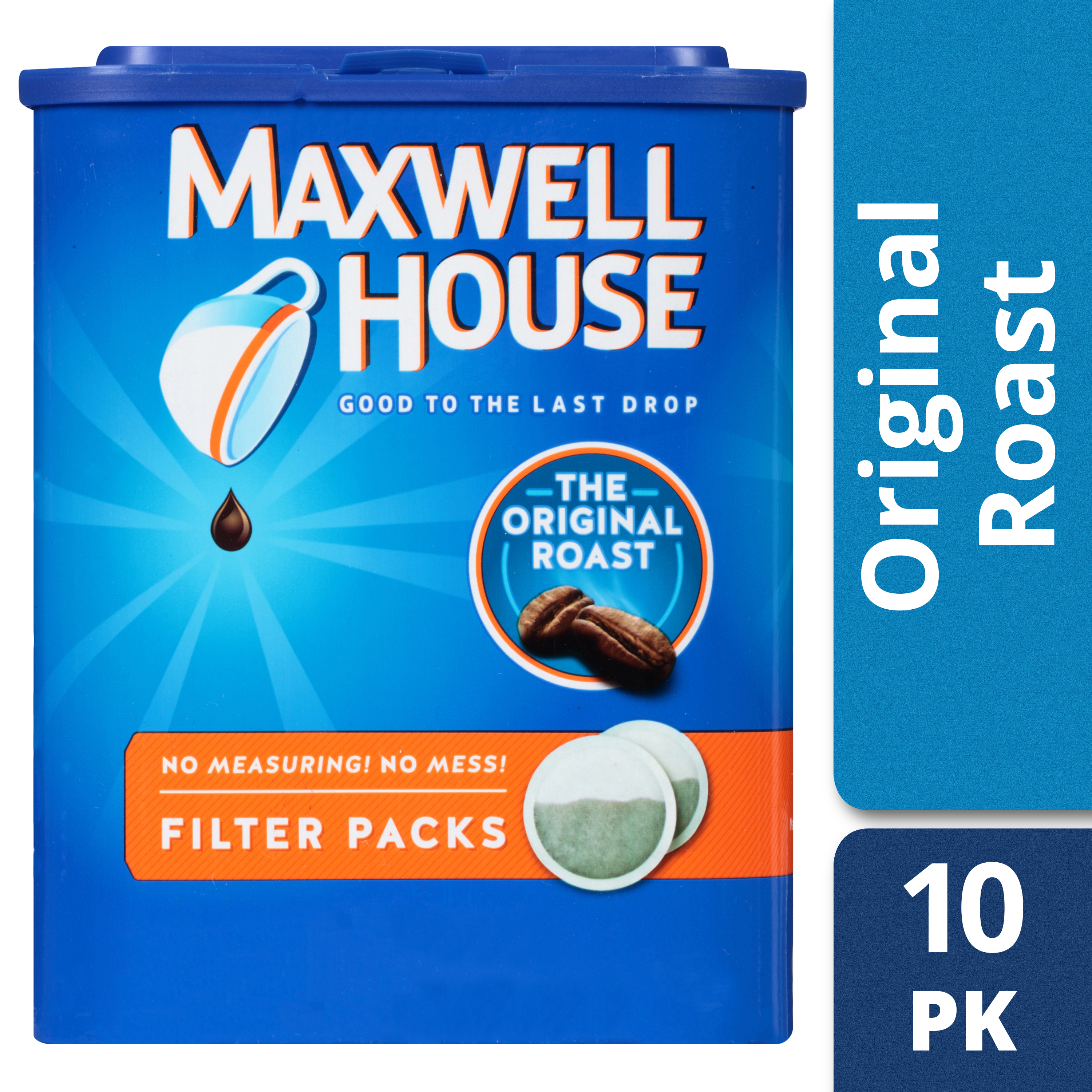 Maxwell House Original Roast Ground Coffee Filter Packs, 10 count Box