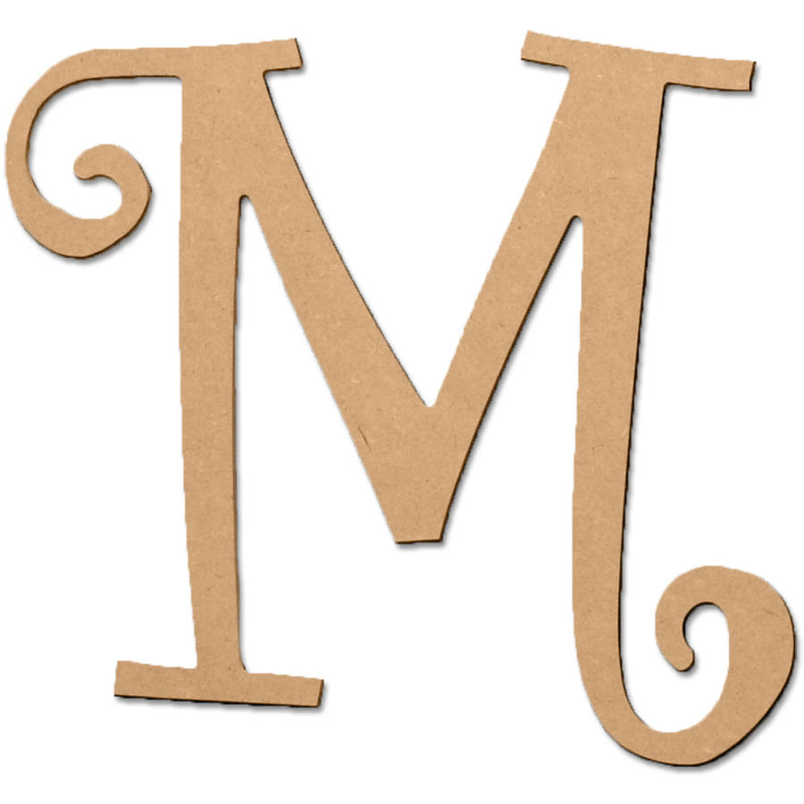 M 5 Inch Curly Letter