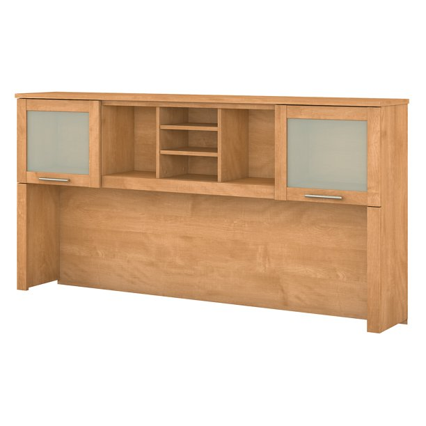 Bush Furniture Somerset 72W Hutch for L Shaped Desk in Maple Cross