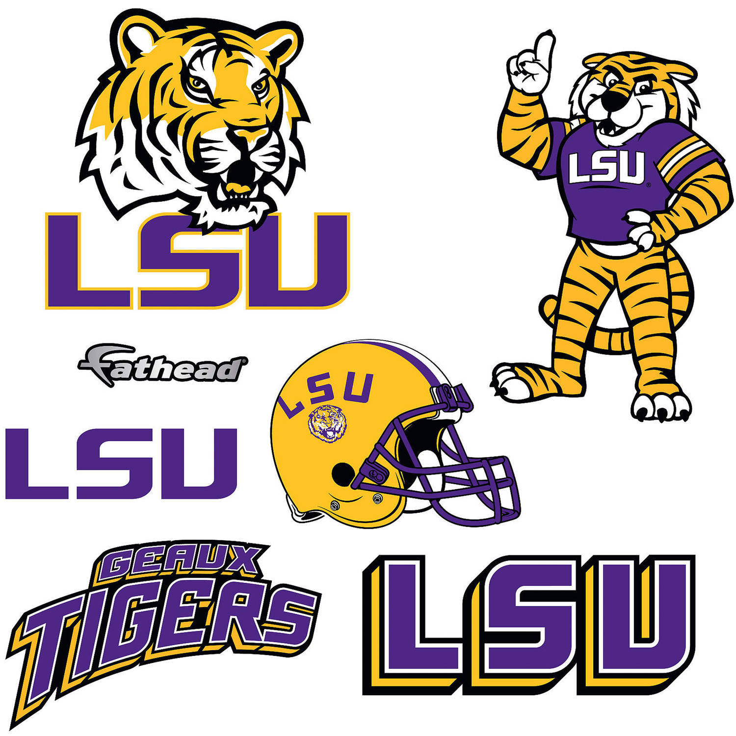 Fathead Louisiana State University Teammate Logo Assortment