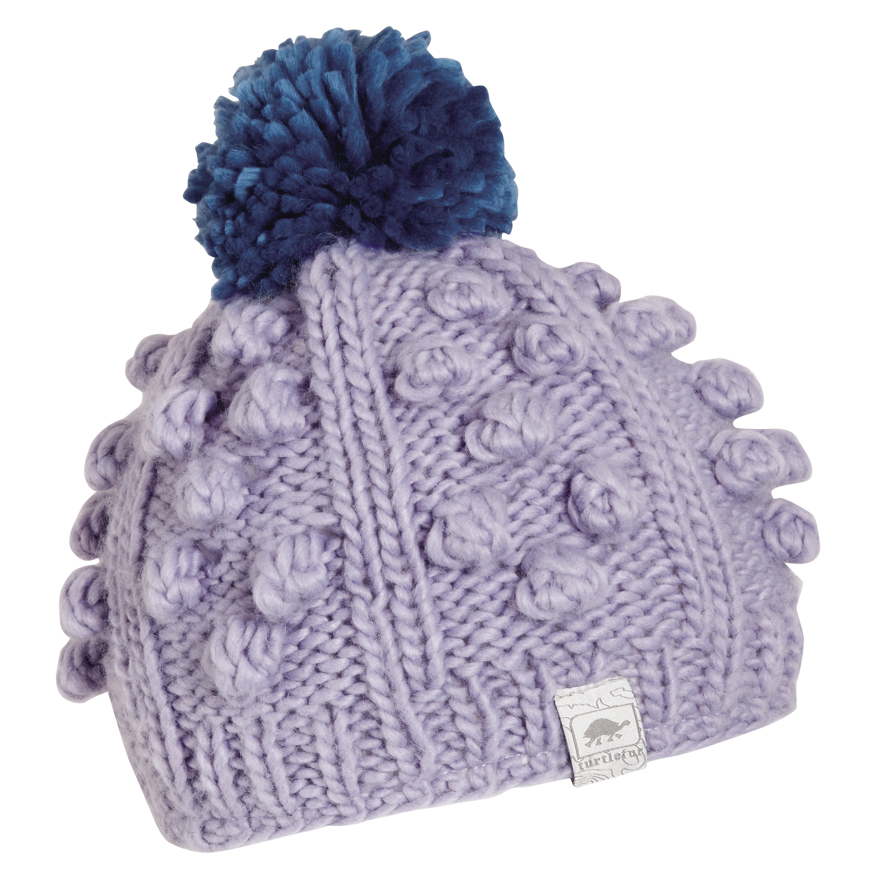 578d51af760a7b Turtle Fur Zola Girl's Chunky Hand Knit Fleece Lined Pom Winter Hat -  Walmart.com